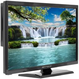"LED HDTV 19"" Flat Screen with Built in DVD Player, Remote, E"