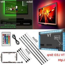 USB Powered 5V RGB LED Strip Light Remote Control For Bar TV