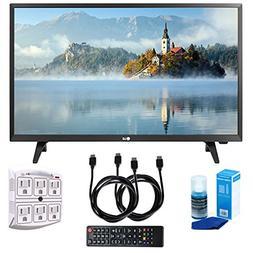 "LG 28LJ430B-PU 28"" Class HD 720p LED TV  with Two  6 Foot HD"