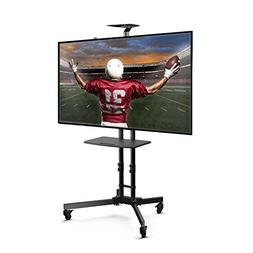 Loctek P3B Universal Mobile TV Stand TV Cart with Height Adj