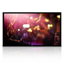 "Pyle 100"" Matt White Home Theater TV Wall Mounted Fixed Flat"