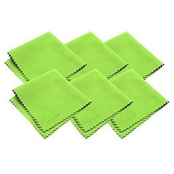 Mcsher Microfiber Cleaning Cloths - 6 Pack, Green, 7.5 x 7.5