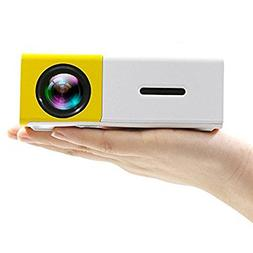 Camecho Mini Portable Projector LED Video Home Theater, Buil