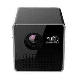 Mini Projector,Portable Video Projector DLP Support 3D Full