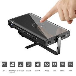 Mini Projector, HUKOER Portable Pico Video Projector, Keysto
