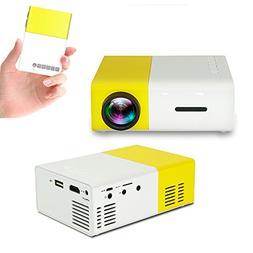 Efanr Mini Projector, Portable 1080P HDMI 600 Lumens LCD Vid