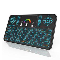 HENRYTECH Mini Wireless Keyboard with Touchpad,2.4GHz Rechar
