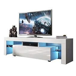 Holarose Modern LED TV Cabinet - Nordic Style TV Stand with