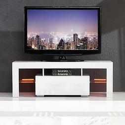 Mecor Modern White TV Stand 51 Inch High Gloss LED TV Stand