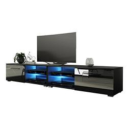 MEBLE FURNITURE & RUGS New Moon Modern TV Stand Matte Body H