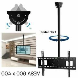 Heavy Duty Roof TV Ceiling Mount Bracket Tilt Swivel For 30-