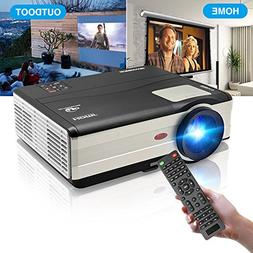 HD Video Projector 3500 Lumens 1080P Movie Gaming Projector