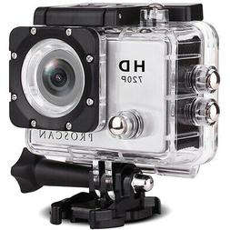 Proscan PAC2000 Waterproof 720p HD Action Camera w/ Built-in
