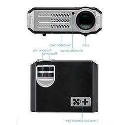 Video Portable Projector GIGXON HD 1080P LED Multimedia Proj
