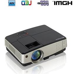 Portable Video Projector-Full HD 1080p Support Multimedia HD