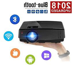 CAIWEI Portable Projector Wireless WiFi Home Theater Project