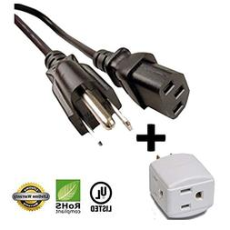 Huetron 12ft Power Cord for COBY LCD LED Plasma HDTV Brand T