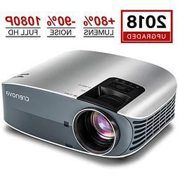 "Crenova Full HD 1080P Video Projector, 2019 Upgraded 200"" Ho"