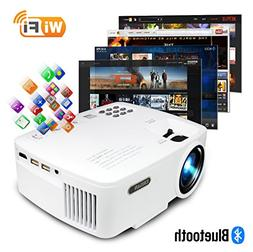 ERISAN Projector Video Home TV Theater, LED Android 6.0 WiFi