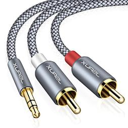 JSAUX RCA Cable,  3.5mm Male to 2RCA Male Stereo Audio Adapt