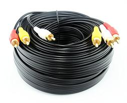 50FT/15M RCA M/Mx3 Audio/Video Cable Gold Plated - Audio Vid
