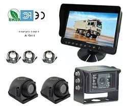"5"" LCD Color Rear View Backup Camera System with CCD 120° W"