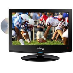 Supersonic SC-1512 LED HDTV 15 Black W/Built-in DVD Player U
