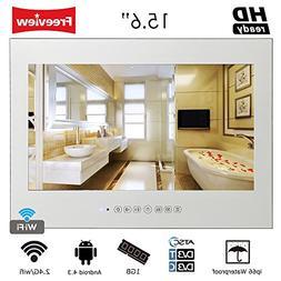 "Soulaca 15.6"" Smart Android 4.2 Bathroom Wi-Fi TV Magic Mirr"