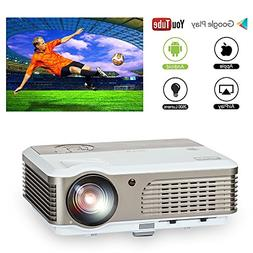 EUG Smart WiFi Home Cinema Projector Android OS, Support HD
