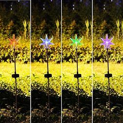 Fashionlite Solar Powered Stake Lawn LED Light Seven Point S