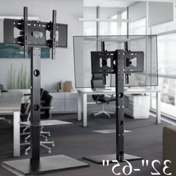 Steel TV Floor Mount Bracket Components Stand Shelf For 30 3