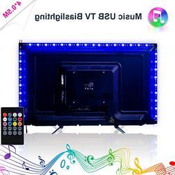 LED Strip Lights, Music LED TV Backlight USB 2M/6.56ft Color