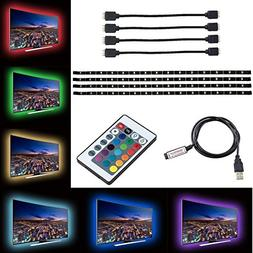 ZRUI Led Strip Lights for 40-60 inches TV Backdrop Lighting,