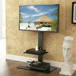 """Tall TV Stand Mount with Component Shelf for 32"""" - 65"""" for S"""