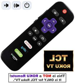 Roku TV remote with Power/Volume Control and UPDATED 4 Shor