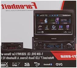 "TI-895B - Farenheit in-Dash 1-DIN 7"" Motorized Flip-Out LCD"