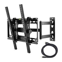 Tilt & Swivel TV Wall Mount Bracket with Full Motion Articul