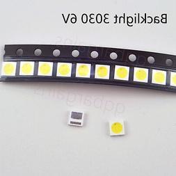 TV Backlight LED Diode SMD 3030 6V 1.8W Cool White LED 10PCS