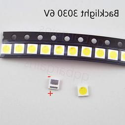 TV Backlight LED Diode SMD 3030 6V CoolWhite LED 10PCS TCL P
