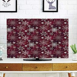 iPrint LCD TV Cover Multi Style,Winter,Floral Flakes with Co