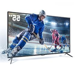 SANSUI TV LED Televisions 55'' 4K TV with Flat Screen TV HDM