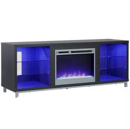 "TV Stand Fireplace LED Entertainment Center 70"" Heater Shelv"