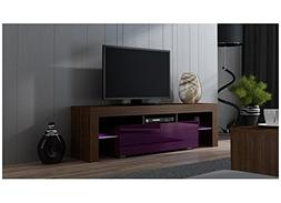 Concept Muebles TV Stand MILANO 160/Modern LED TV Cabinet/Li