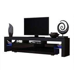 TV Stand MILANO 200 Black Body Modern LED TV Cabinet Living