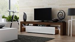 TV Stand MILANO 200 Walnut Line / Modern LED TV Cabinet / Li
