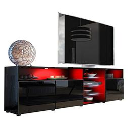 Meble Furniture & Rugs TV Stand Roma Matte Body High Gloss D