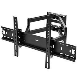 Sunydeal TV Wall Mount Tilt Swivel Articulating Dual Arm Bra