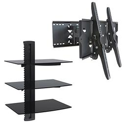 2xhome Full Motion Articulating Swivel Tilt Up Down TV Wall
