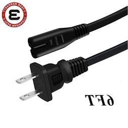 FITE ON UL Listed 6FT/1.8M AC Power Cord Outlet Socket Cable