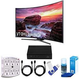 "Samsung UN55MU6490 Curved 54.6"" LED 4K UHD Smart TV Bundle i"